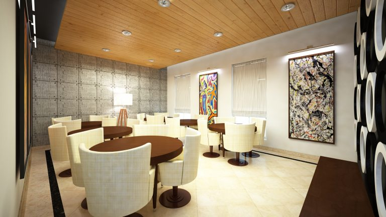 Cardroom Interior at Management Club FFL Group